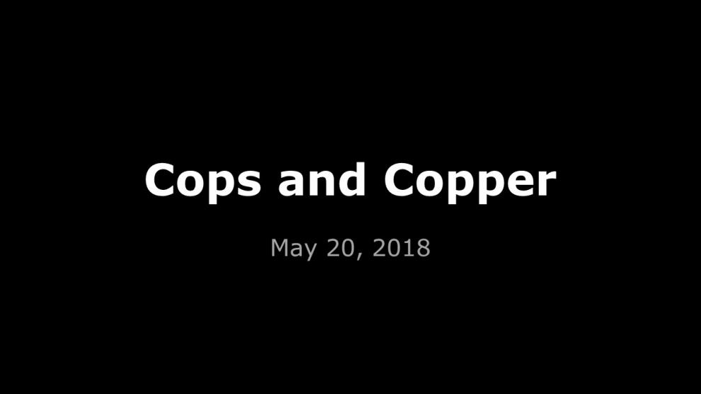 Cops and Copper Construction Site Police Apprehension
